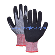 13 Gauge Anti-Cut Liner, Cut Resistance up to Level 5, Nitrile Glove