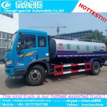 12000liters tanque de combustible capacidad camión FAW medidor de flujo combustible