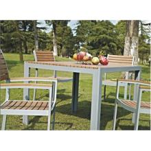 Outdoor Imitated Wood Furniture 5pc Dining Set