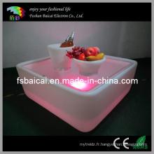 Table à LED avec godet à vin de glace