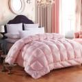 100% poliéster macio escovado sólido impressa Comforter Set