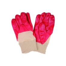 Рабочие перчатки с переплетным вкладышем с ПВХ покрытием,
