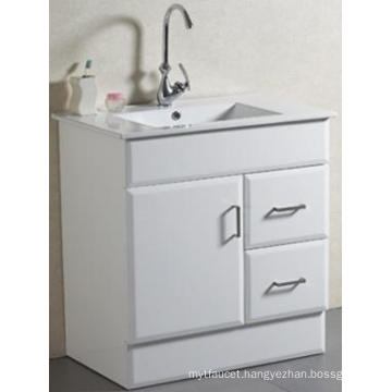 New Design Sanitary Ware Floor Mounted Solid Bathroom Vanity with Basin (AB-75)
