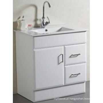O assoalho sanitário dos projetos novos do projeto montou a vaidade contínua do banheiro com bacia (AB-75)