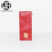 Bolsos de compras decorativos baratos del papel del color rojo