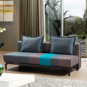 Armless Three-Seater Couch Grey Futons Sofa Bed