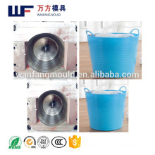 25L Soft plastic injection car Trunk soft barrel mould in China PE plastic green car wash bucket mold making