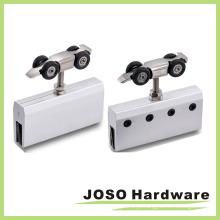 Frameless slide door roller system rolo de suspensão de zinco
