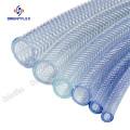 Soft pvc reinforced braided vinyl tubing