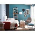 Atacado de alta qualidade macio branco dormitório folha simples 100% algodão folha de cama