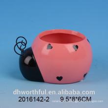 Adornos de jardín maceta de cerámica en forma de insecto