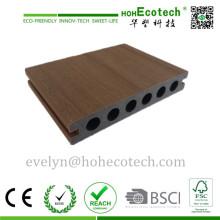 Placa de revestimento exterior de alta qualidade de WPC, assoalho composto Co-expulsando do Decking, Decking de Capstock