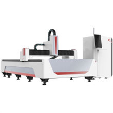 Automatic Steel Tube Cutting Machine Cover 6Kw Exchange Table Cnc Fiber Laser Cutting Machine
