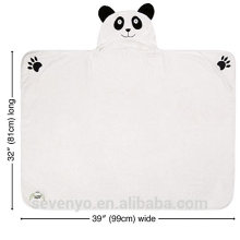Light weight Panda bamboo baby hooded towel Super fluffy Ideal for newborn and infand and toddler animal hood