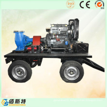 Trailer Mobile Diesel Engine (35HP45HP50HP) Water Pump for Sewage
