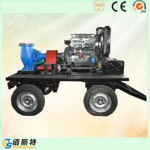 Прицеп Мобильный дизельный двигатель (35HP45HP50HP) Водяной насос для сточных вод