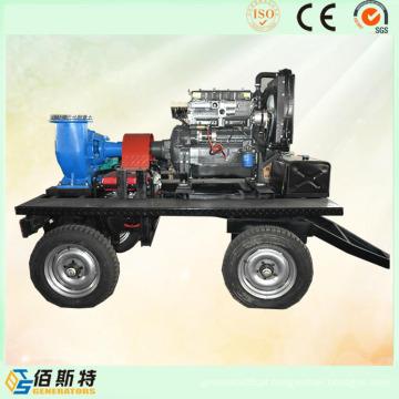 Trailer Mobile Diesel Engine (35HP45HP50HP) Bomba de água para esgoto