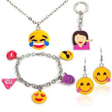 Nouveau design personnalisé alliage émail charme de gros Emoji bijoux de mode