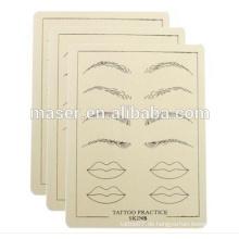 Tattoo Praxis Fake Haut, Übung Haut Gummi, Permanent Makeup Augenbraue Pratice Haut