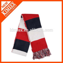 2015 Hot sale colorful men striped knit acrylic scarf