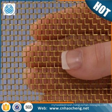 Factory price non magnetic copper fabric emf protection screen mesh