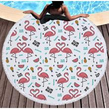 Cheap Microfiber Fashion Printed Round Beach Towel