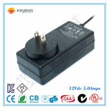 ZF120-1205000 12V 5A UL1310 Switching 60W Power Adapter