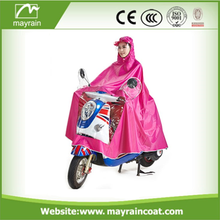 Pink Polyester Coated Pvc Adult Rain Poncho