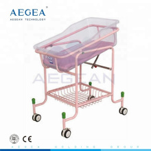AG-CB010 more advanced ABS tray with mattress adjustable hospital baby cradles bed for sale