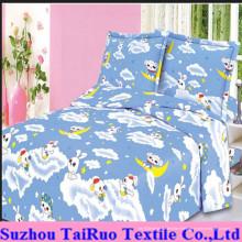 Pongé balayé par microfiber pour le tissu de drap de lit d'enfants