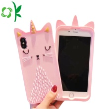 Pokrowiec na telefon Crown Golden Cat Unicorn Silicone Cover