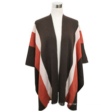 Lady Fashion Pashmina Acryl Gestrickte Winter Streifen Schal (YKY4401)