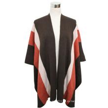 Леди мода Пашмины акриловые вязаная Зимняя полоса шали (YKY4401)