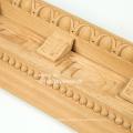 Decorative furniture with corner wood moulding