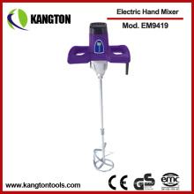 Mezclador eléctrico de la mano del taladro del mezclador concreto de la pintura de la mano 1220W