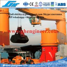 Grue à cargaison électrique à grande vitesse en eau protégée