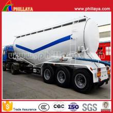 Camion-citerne de poudre de semi-remorque de camion de réservoir de ciment en vrac de 3 axes