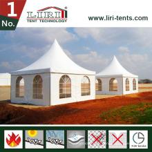 Tente Pagoda pour couverture de toit blanche et parois latérales pour vente chaude