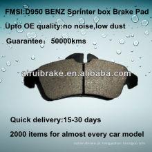 D950 OE QUALITY almofadas de travão de disco de metal baixo para BENZ SPRINTER BOX VAN