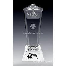 Trophée D Vinci Crystal de 10 pouces de hauteur (DV1N)