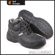 Injection PU Ankle Safety Shoe with Genuine Leather (Sn52840