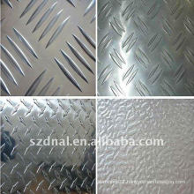 aluminum checkered plate with 5 bar