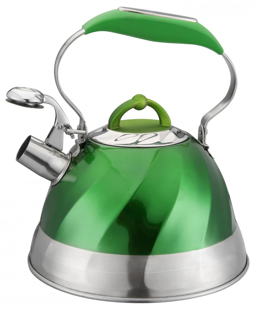 Building Green Heat Resistant Handle Stainless Steel Whistling Kettle