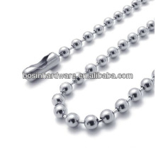 Fashion High Quality Metal Stainless Steel Bead Chain Necklace