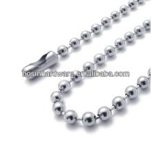 Moda de alta qualidade em metal aço inoxidável grânulo cadeia colar