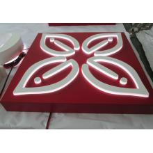 Customed Stailess Steel Paint LED Acrylic Square Advertising Light Box