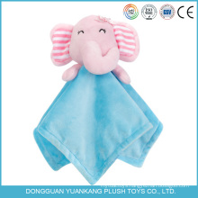 YK ICTI 20cm factory cheap price baby blanket with animal head plush toy