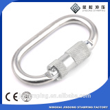 top sale 23kn Self-Locking heat treatment Steel Carabiner for safety Climbing