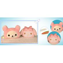 Almofada de cabeça de boneca de menina dos desenhos animados