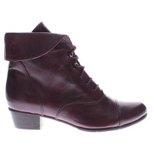 Get Ready for Fall Leather Foldover Collar Wedge Booties